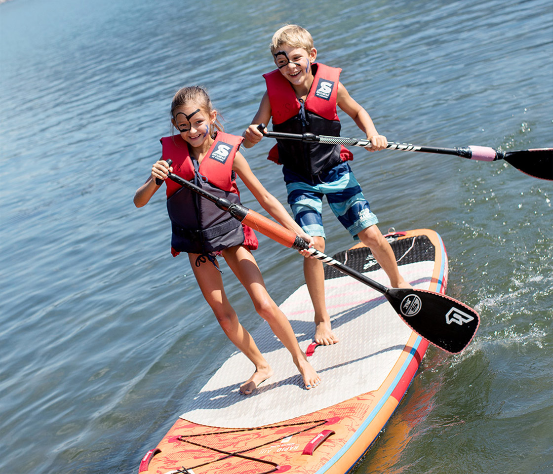Kidsfun Zeller See, with SUP Board copyright: Faistauer-Photography