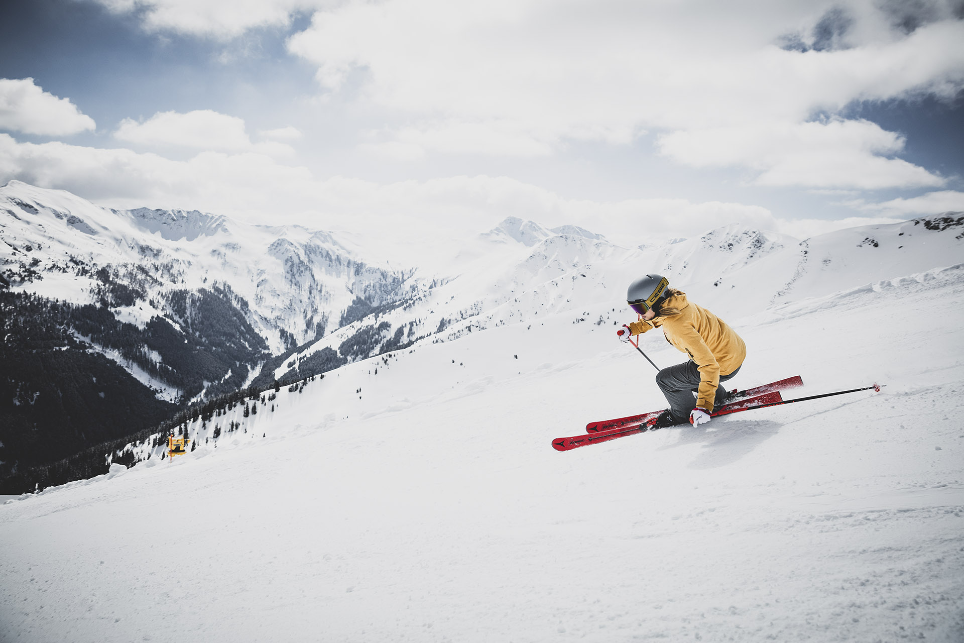 Skifahren im Salzburger Land in Saalbach Hinterglemm