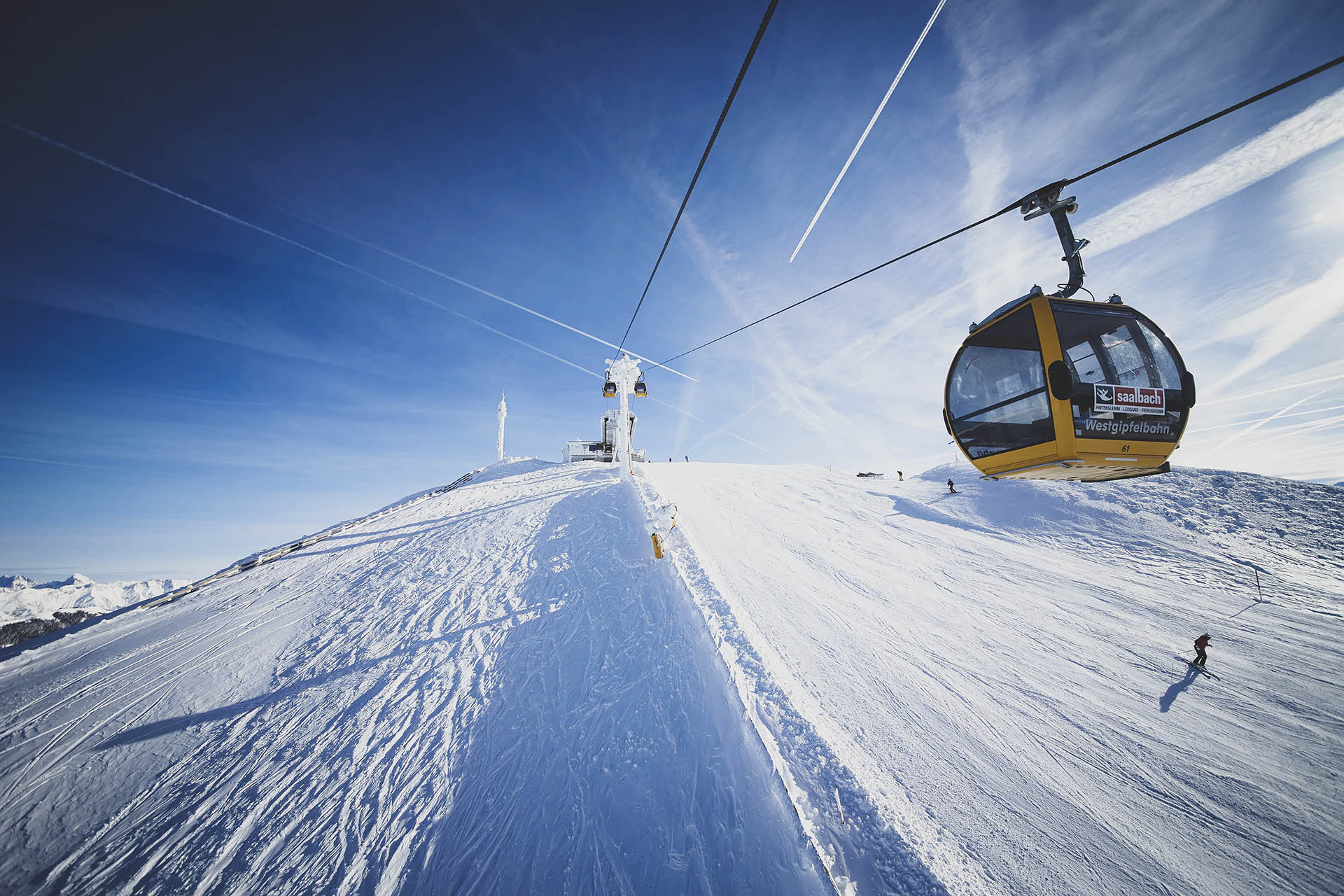 HolidayFlats24-Skifahren in Saalbach Hinterglemm- Westgipfelbahn